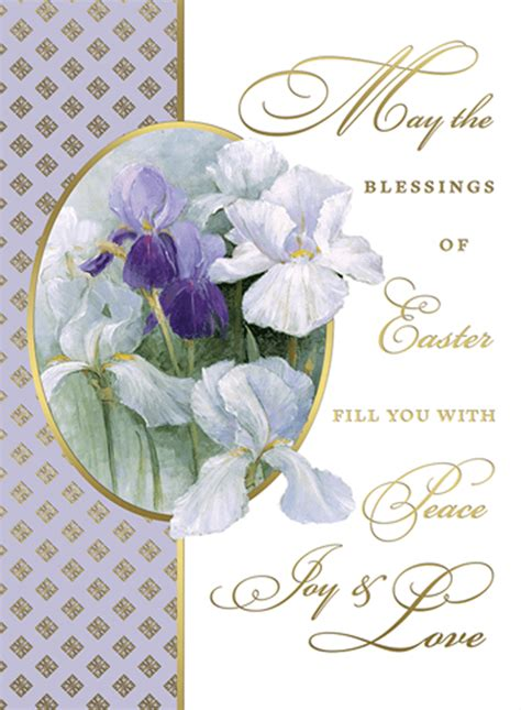 catholic easter card template easter blessings cards box of 25