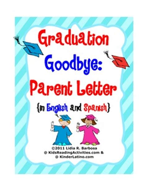 Parent Goodbye Letter Graduation Goodbye Parent Letter And By Lidia Barbosa