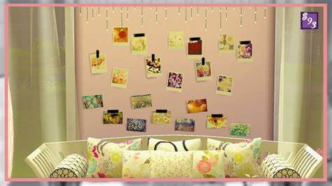 sims 4 cc home decor cc by shenice93 spring time cherry cc by shenice93 flower polaroids sims 4 objects