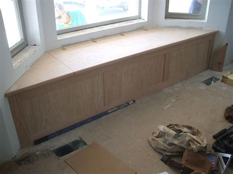 window seat box plans oak bay window seat storage by jerry118 lumberjocks
