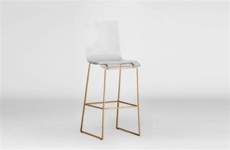 Clear Acrylic Bar Stool Clear Acrylic Bar Stool Lucite And Gold King Gabby