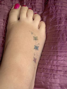 small butterfly tattoos on foot small colored butterflies foot