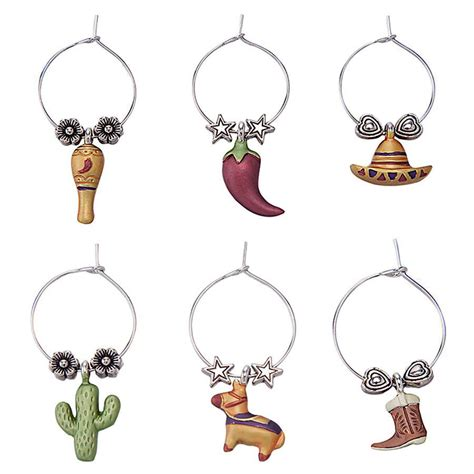 birthday themed wine charms viva mexico themed wine charms mexican fiesta theme