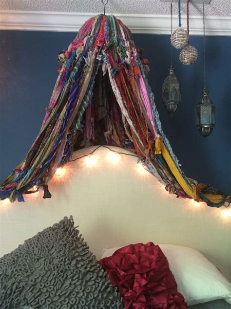 Boho Bed Canopy Boho Bed Canopy By Melisalanious On Etsy
