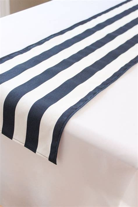 navy striped table runner navy and white striped table runner wedding table