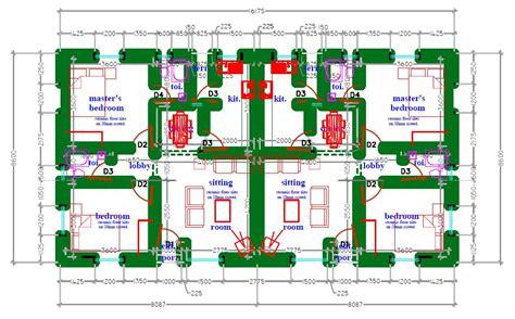 semi bungalow house plans