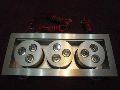 led deckenstrahler led einbau deckenstrahler trio schwenkbar 9x3 watt