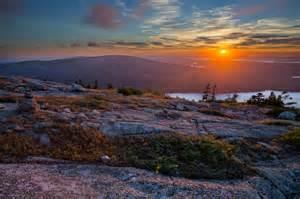 Cadillac Mountain Acadia Sunset At Cadillac Mountain Acadia National Park Maine