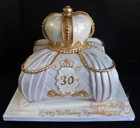 Crown On Pillow Cake by Www Wendyscakeart Pillow Cake Crown Edible Crown