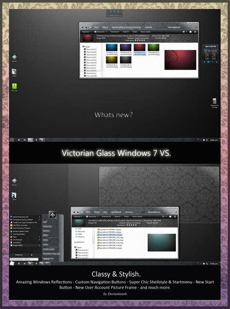 pc glass themes victorian glass vs seven theme themes for pc