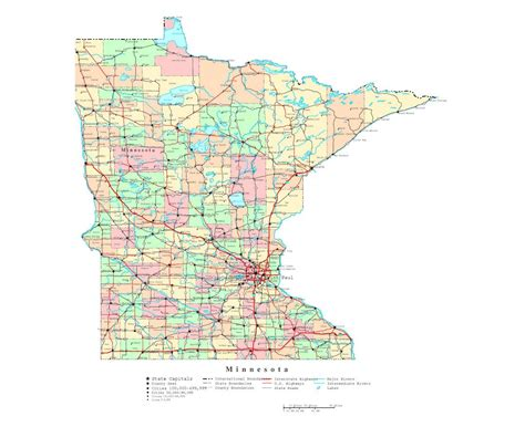 maps of minnesota maps of minnesota state collection of detailed maps of