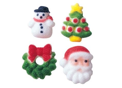 edible cupcake decorations christmas charms 508 bulk box