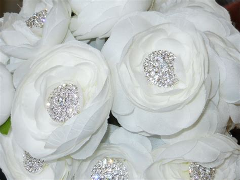 Wedding Bouquet Bling by Bridal Wedding Bouquet Bling Bouquet With White Ranunculas