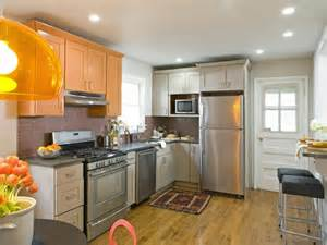 Orange Kitchens With White Cabinets A Stylish Kitchen Makeover With Orange And Gray Painted