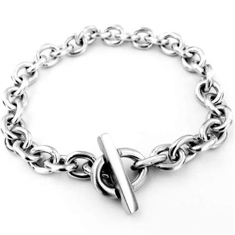 Handmade Silver Bracelets - handmade silver t bar bracelet by with