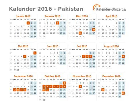 Feiertage Kalender 2016 Feiertage 2016 Pakistan Kalender 220 Bersicht