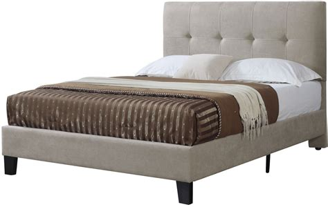 platform bed cal king harper taupe cal king upholstered platform bed from