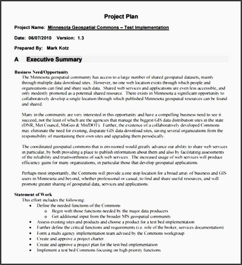 project outline template microsoft word 6 project plan in word sletemplatess sletemplatess