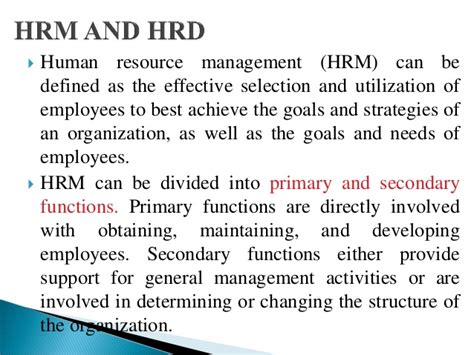 Human Resource Development Notes For Mba by Human Resource Development Introduction