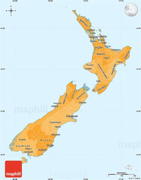 political map of new zealand political shades simple map of new zealand
