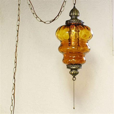 vintage hanging swag ls vintage hanging light hanging l swag l amber