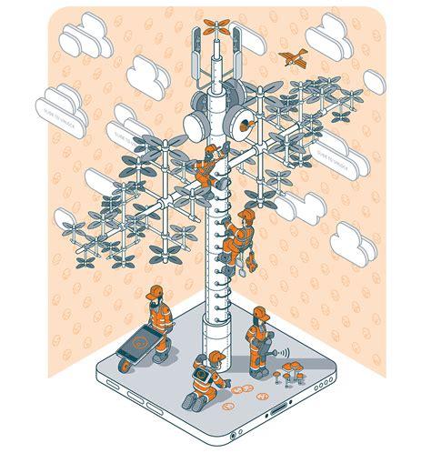 telecom tree on behance
