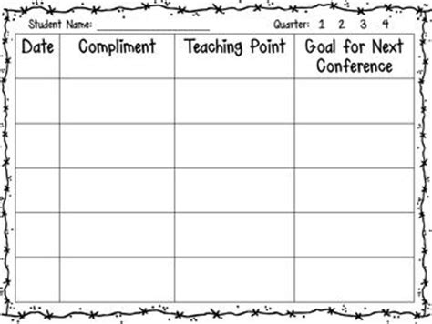 writing conference template writing workshop conference sheets writing