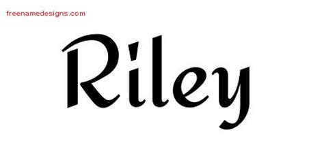 riley name tattoo design calligraphic stylish name designs free