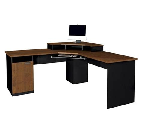 Corner Desk Brown Hton Collection Modern Brown Black Corner Desk Computerdesk