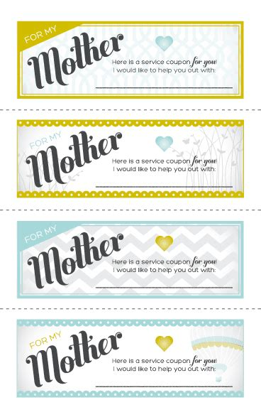 printable love coupons for mom just sweet and simple mother s day ideas
