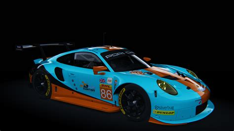 gulf porsche wallpaper skins porsche 911 rsr 2017 gulf racing racedepartment