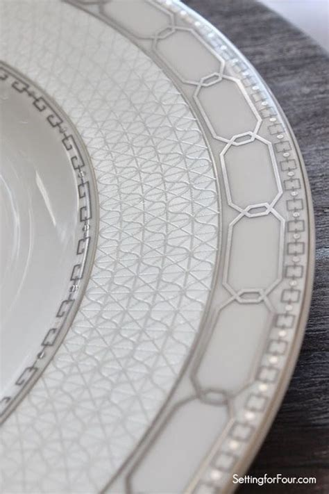 geometric pattern dinnerware setting the table with style tablescape decor tips