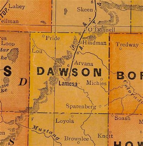 dawson county texas map lou texas