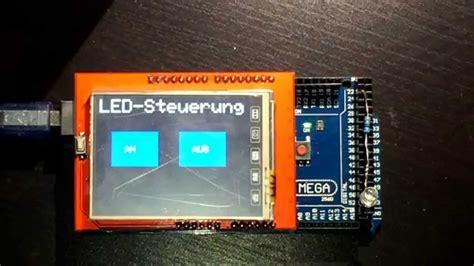 arduino lcd tft  touch display ili deutsch