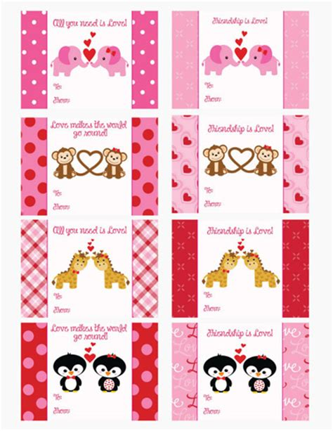 free printable animal valentines day cards the gallery for gt cute animal valentines day cards