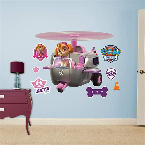 helicopter wall stickers fathead paw patrol skyes helicopter wall decal