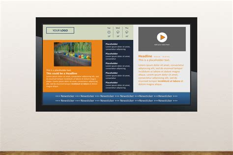 Digital Signage Templates Free Digital Signage Templates Presentationpoint