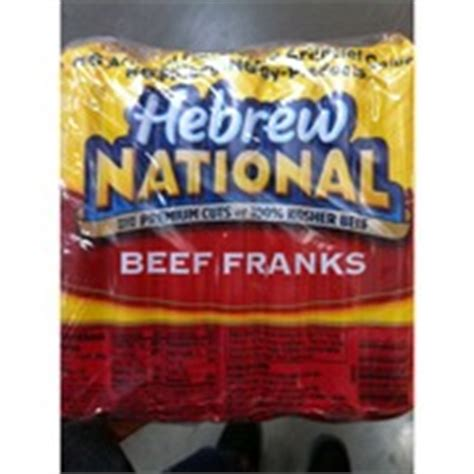 hebrew national calories hebrew national beef franks calories nutrition analysis more fooducate