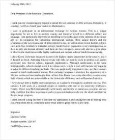 Research Exchange Motivation Letter Sle Student Letter