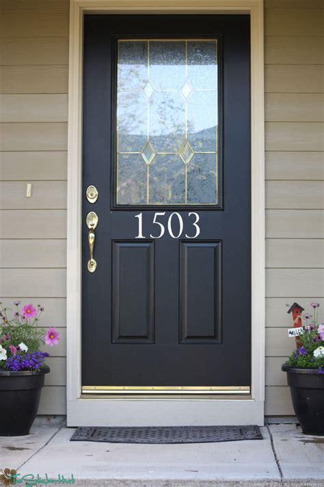 Front Door House Numbers House Numbers Front Door Custom Wall Stickers By Thestickerhut