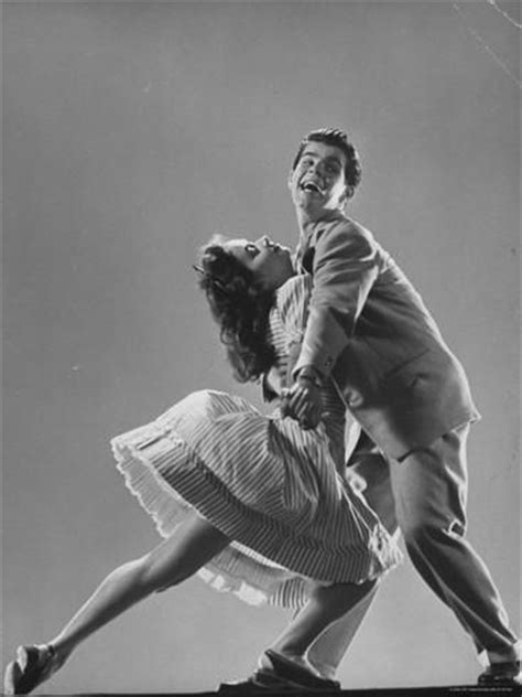 single swing dance dancers kaye popp and stanley catron demonstrating the