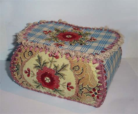 shabby chic crochet trinket box felt