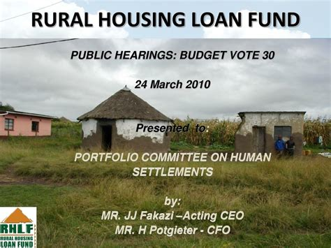 rural housing loan ppt rural housing loan fund powerpoint presentation id 29999