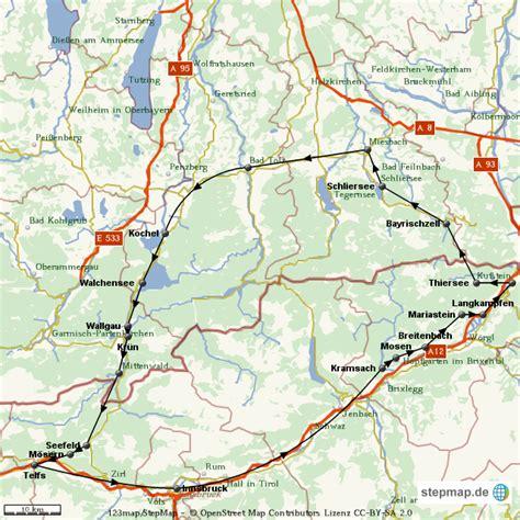 Motorradtouren Deutschland Karte by Motorradtour Tirol Bayern Von Bernhardegger Landkarte