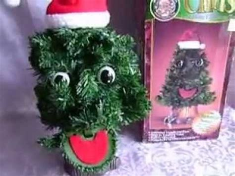 talking xmas tree vintage gemmy chris talking singing animated 15 quot tree 1998