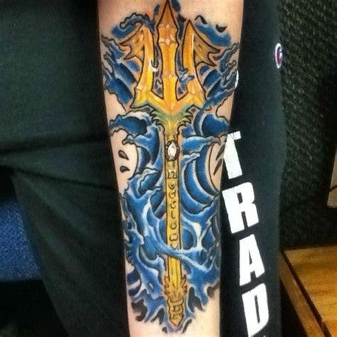 poseidon trident tattoo my second poseidon s trident done by george