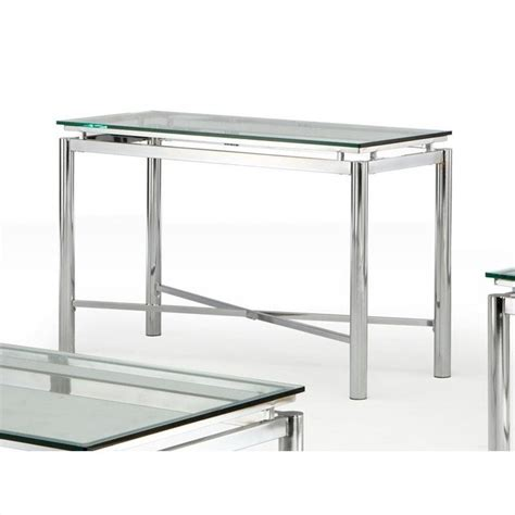 glass top sofa table steve silver company nova glass top sofa table nv100sx