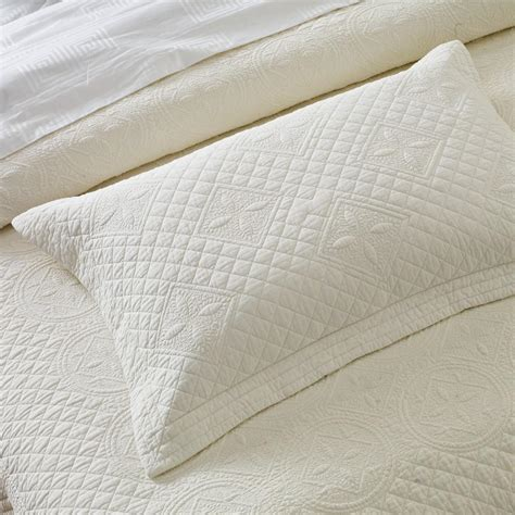 How To Make A Quilted Pillow Sham by Ivory Luxury Cotton Quilted Pillow Sham Calla