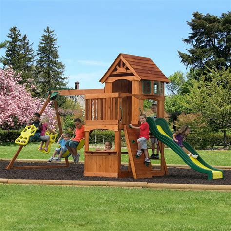 backyard adventures 3 value swing sets for summer family fun backyard