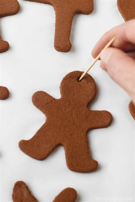 gingerbread man christmas ornaments wine glue